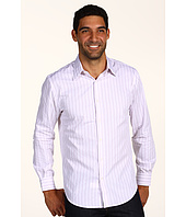 Perry Ellis - L/S Slim Fit Herringbone Stripe Woven