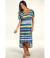 C&C California - Watercolor Stripe High-Low Maxi Dress