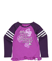 adidas Kids - Sport Girl Raglan L/S Tee (Toddler/Little Kids)