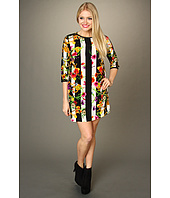 Juicy Couture - Adorned Floral Stripe Tunic Dress