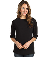 Lacoste - 3/4 Sleeve Pleated Crepe Tunic Top