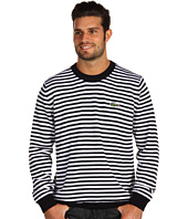 Lacoste - Wool Jersey Stripe Crew Neck Sweater