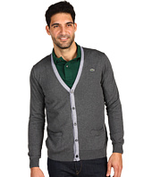 Lacoste - Cotton Jersey Cardigan w/ Stripe Tipping