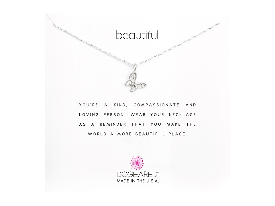 Dogeared Beautiful Reminder Sterling Necklace