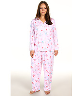Karen Neuburger - Plus Size Holiday Interlock L/S Girlfriend PJ