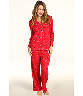 Karen Neuburger - Petite Pop In Red L/S Girlfriend Long PJ