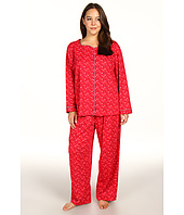 Karen Neuburger - Plus Size Pop In Red L/S Cardigan Long PJ