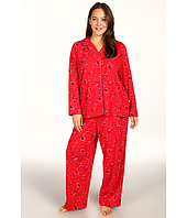 Karen Neuburger - Plus Size Pop In Red L/S Girlfriend Long PJ