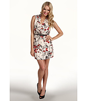 Kensie - Belted Sleeveless Floral Dress