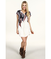 Kensie - Feather Print Shirtdress