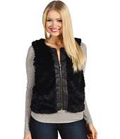 Kensie - Faux Fur Pleather Trim Vest