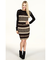 Kensie - Variegated Stripe Sweater Dress