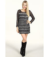 Kensie - Contrast Knit Mini Dress