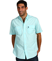 U.S. Polo Assn - S/S Solid Poplin Shirt W/ Double Flap Pocket