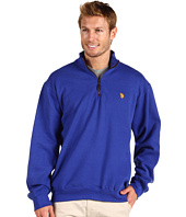 U.S. Polo Assn - 1/4 Zip Solid Mock W/ Small Pony