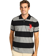 U.S. Polo Assn - Stripe Pique Polo w/ Big Pony