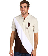 U.S. Polo Assn - Pique Polo W/ Diagonal Stripe