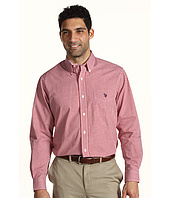 U.S. Polo Assn - Long Sleeve Check Pattern Woven Shirt