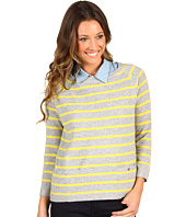 Autumn Cashmere - Pencil Stripe Boxy Crew with Pockets