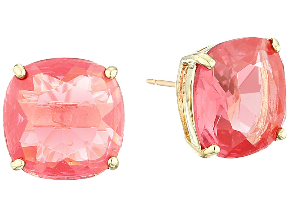 Kate Spade New York - Small Square Studs (Flo Pink) Earring