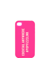 Cheap Kate Spade New York Pop Fizz Clink Silicone Case For Iphone 4 Pink White