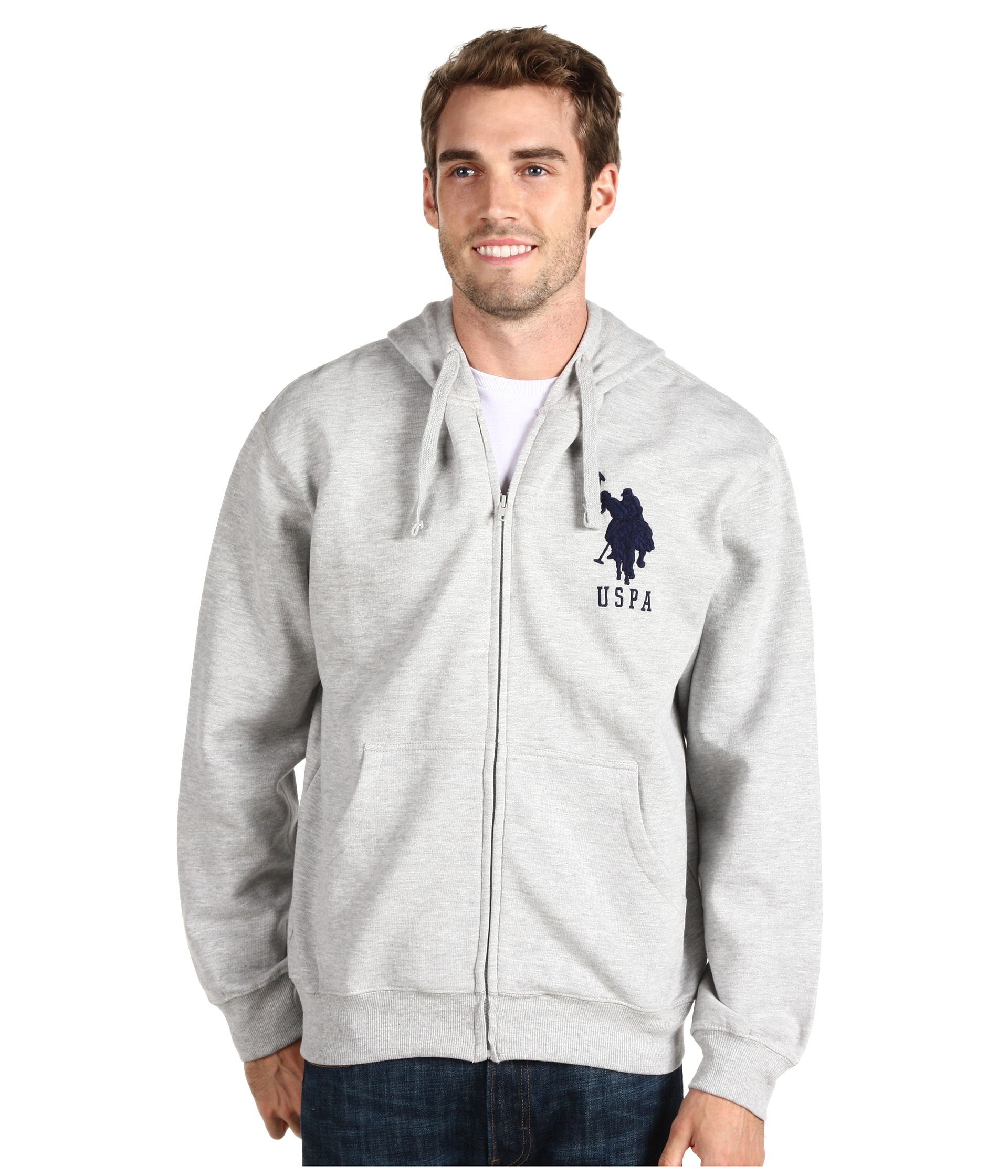U.S. POLO ASSN. - Full Zip Hoodie W/ Contrast Thermal Lining And Big Pony