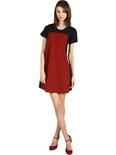 Kate Spade New York Bosley Dress Black/Russet  :  black red dress