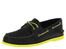 Sperry Top-Sider - A/O 2-Eye Neon (Black/Neon Yellow) - Footwear