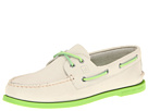 Sperry Top-Sider - A/O 2-Eye Neon (Off White/Neon Green)