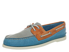Sperry Top-Sider - A/O 2-Eye Burnished (Cool Gray/Orange/Turquoise)