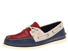 Sperry Top-Sider - A/O 2-Eye Burnished (Red/Cement/Dark Blue)