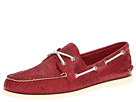 Sperry Top-Sider - A/O 2-Eye Croc Emboss (Red)