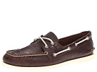 Sperry Top-Sider - A/O 2-Eye Croc Emboss (Dark Brown)