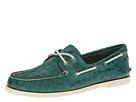 Sperry Top-Sider - A/O 2-Eye Croc Emboss (Green)
