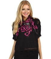 Juicy Couture - Silk Square Snow Leopard Scarve