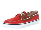 Sperry Top-Sider - Bahama 2-Eye Canvas/Leather (Red/Tan)