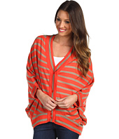 BCBGMAXAZRIA - Striped Oversized Poncho Cardigan
