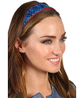 Cheap Juicy Couture Snake Printed Leather Elastic Headband Bright Lapis