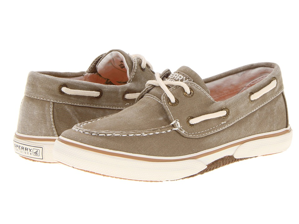 Sperry Kids Halyard (Little Kid/Big Kid) (Khaki) Boys Shoes