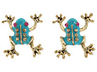 Betsey Johnson Frog Stud Earrings