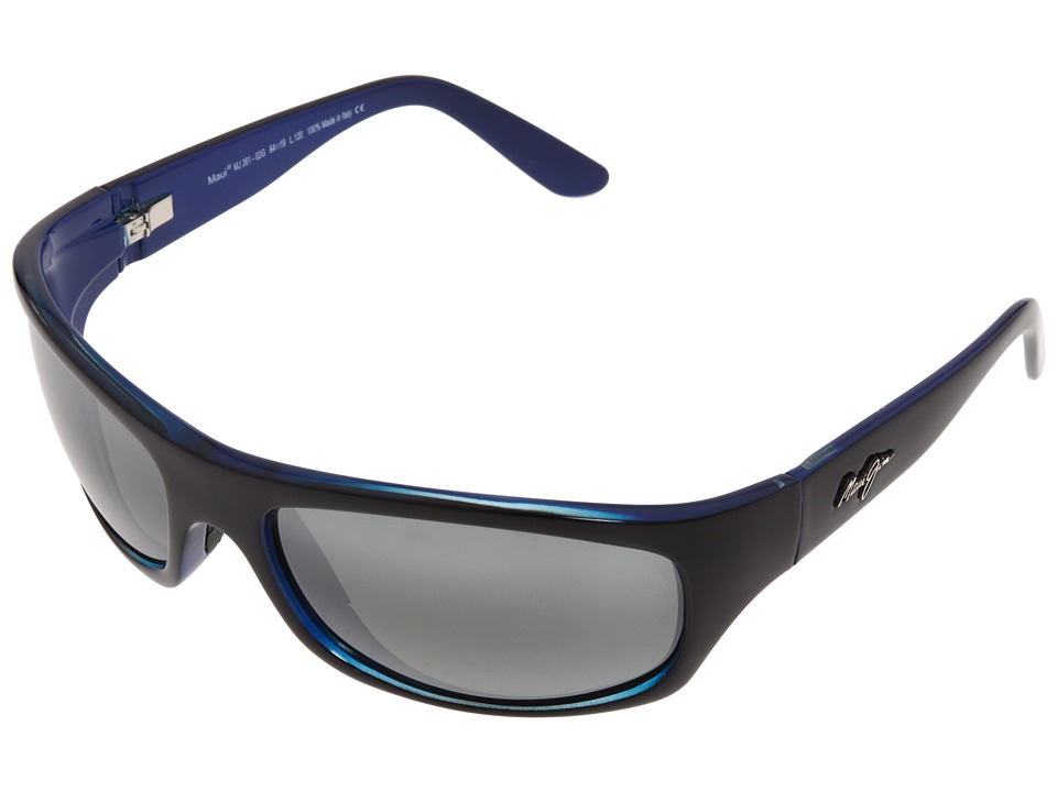 Maui Jim - Surf Rider (Black w/ Blue Interior/Neutral Grey) Sport Sunglasses