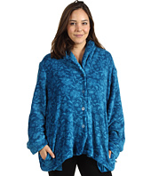 Karen Neuburger - Plus Size Printed Plush L/S Bed Jacket