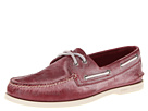 Sperry Top-Sider - A/O 2-Eye White Wash (Dark Red)