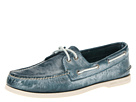 Sperry Top-Sider - A/O 2-Eye White Wash (Dark Blue)