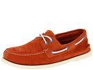 Sperry Top-Sider - A/O 2-Eye Perfed Suede (Orange Suede)