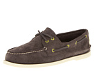 Sperry Top-Sider - A/O 2-Eye Perfed Suede (Grey Suede)