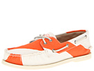 Sperry Top-Sider - A/O 2-Eye Painted Canvas (Diver Orange/White)