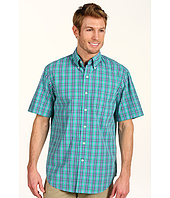 IZOD - Short Sleeve Plaid Button Down