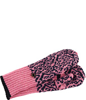 Juicy Couture Kids - Snow Leopard Pop Top Mittens