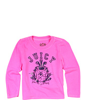 Juicy Couture Kids - Collegiate Crest L/S Tee (Toddler/Little Kids/Big Kids)